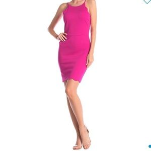 Love..Ady pink scalloped dress